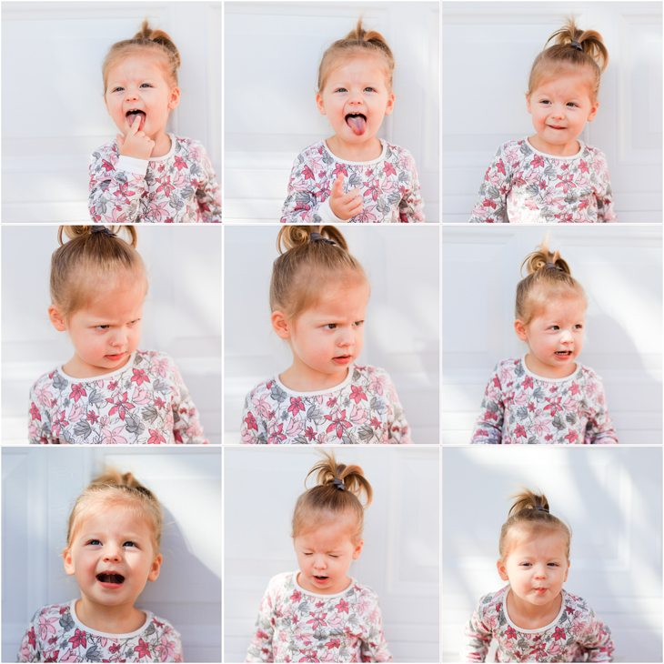 Faces Of A 2 Year Old