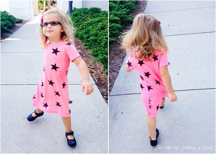 Pink Dress, Black Stars.