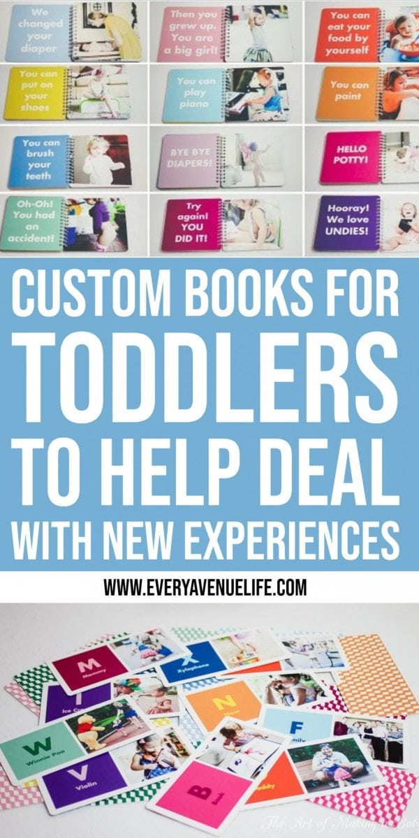 custom books for toddlers to help deal with new experiences