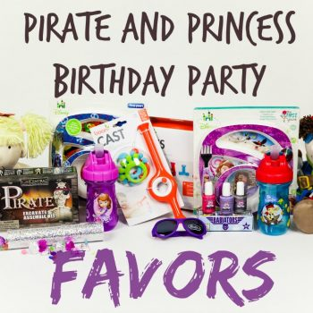 Princess And Pirate Birthday Party Favors