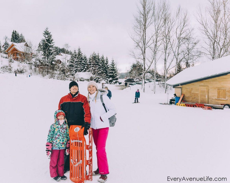 Day 4 – Sledding In The Snow