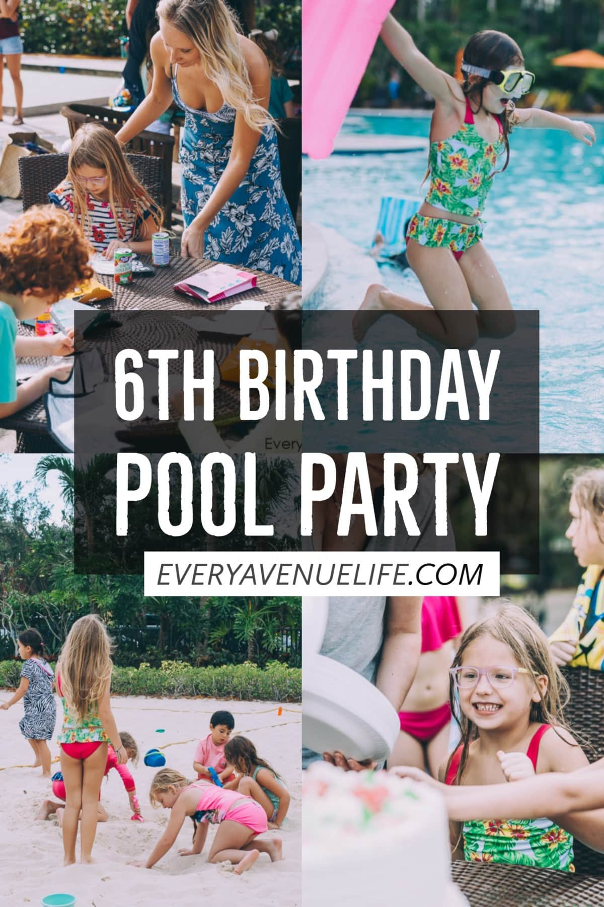 Alexis' 6th Colorful Birthday Party At The Pool
