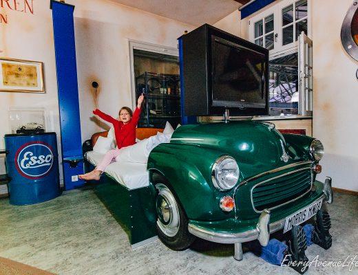 Mom Blog V hotel for car lovers