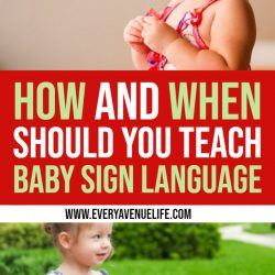 When to Start Teaching Baby Sign Language + Baby Signs Book