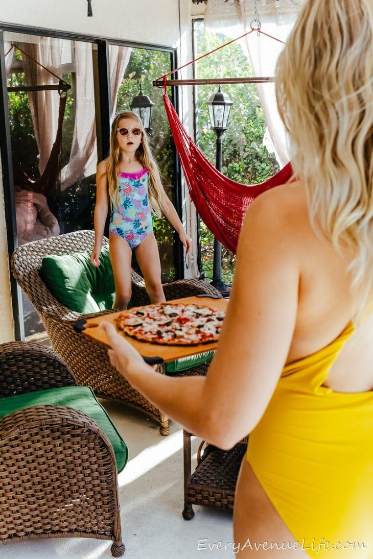 Lazy Florida Pool Days And Gluten Free Broccoli Pizza